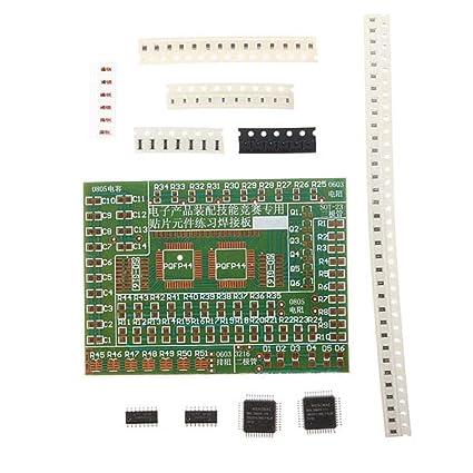 DIY Kit Plate SMD Componentes ejercicios de soldadura electrónica para el entrenamiento