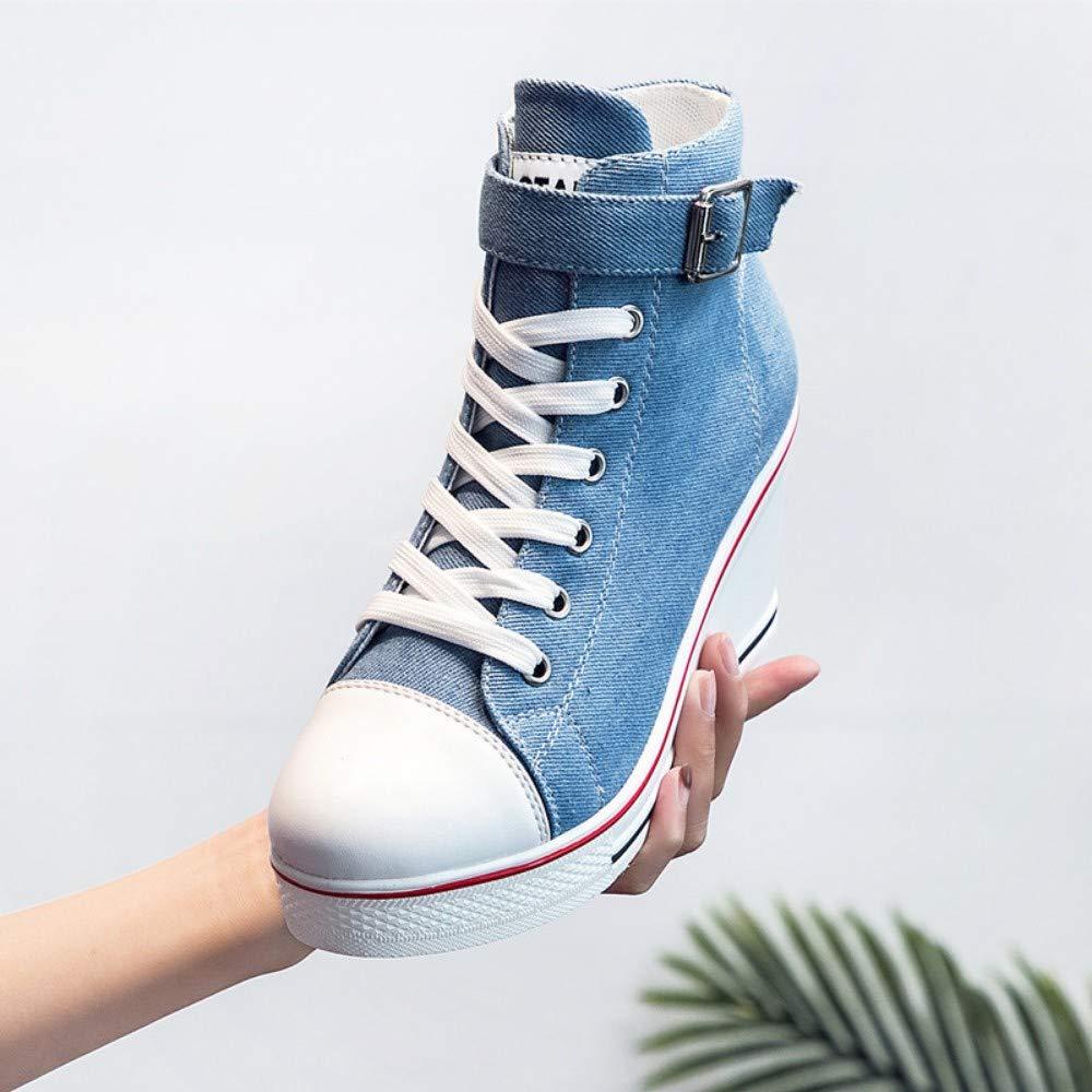 XL_nsxiezi Frauen Plattform Leinwand Schuhe High-Top High-Top High-Top Casual Schuhe seitlichen Reißverschluss Erhöhung B07PWPMFC4 Sport- & Outdoorschuhe Empfohlen heute eb0703