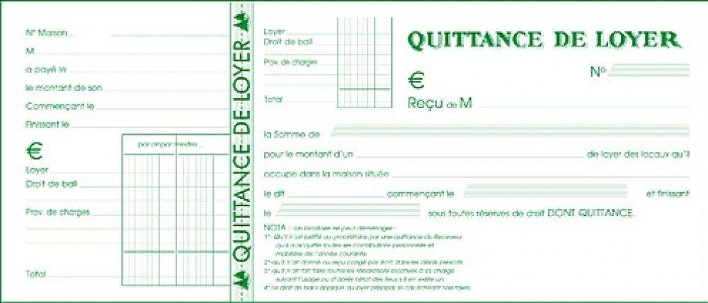Exacompta 42E Quittances de Loyer 50 Feuillets Format Horizontal