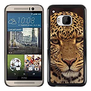 iBinBang / Funda Carcasa Cover Skin Case - Leopard Decepcionado Furry Animal salvaje - HTC One M9