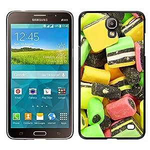 // PHONE CASE GIFT // Duro Estuche protector PC Cáscara Plástico Carcasa Funda Hard Protective Case for Samsung Galaxy Mega 2 / Design Candy Macro /