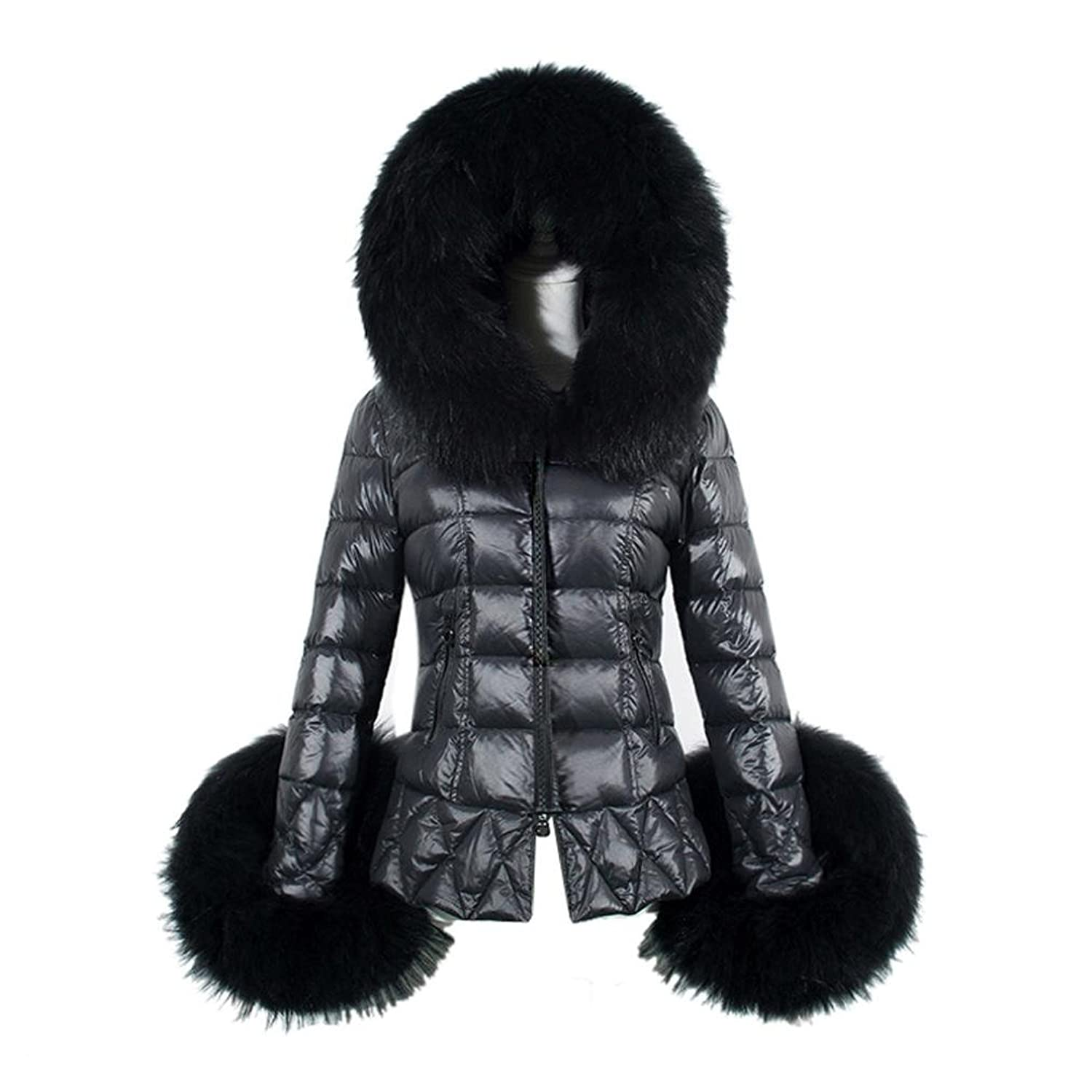 TOOPOOT Winter Women's Down Cotton Parka Hooded Coat Quilted Jacket