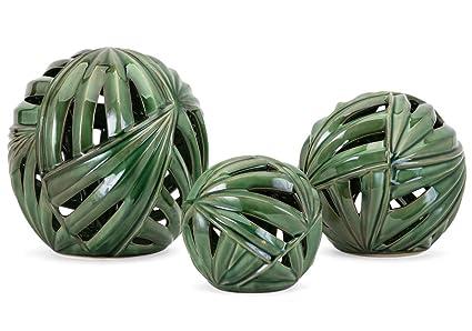 Amazon Com Decorative Balls Set Of 3 Sculpture Home Decor New Home