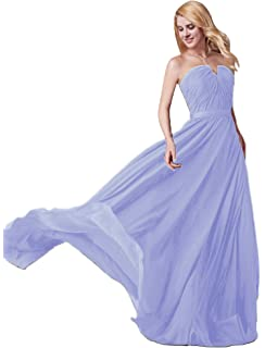 139032d798b3 Udresses Women's Strapless Notched Neck Long Ruched Chiffon Bridesmaid  Dresses