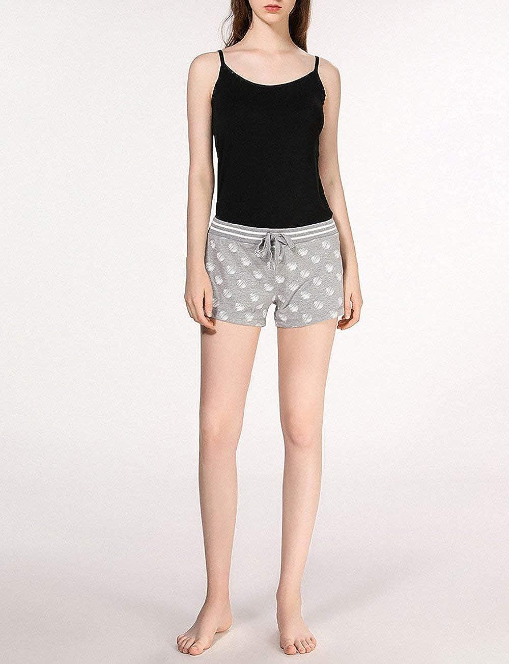 Pantalon De Pyjama Un pour Femmes avec Motif De Tailles Confortables Nuit Boxer Shorts Pantalon D /Ét/é en Coton Pantalons De Sport Shorts Pyjamas Court