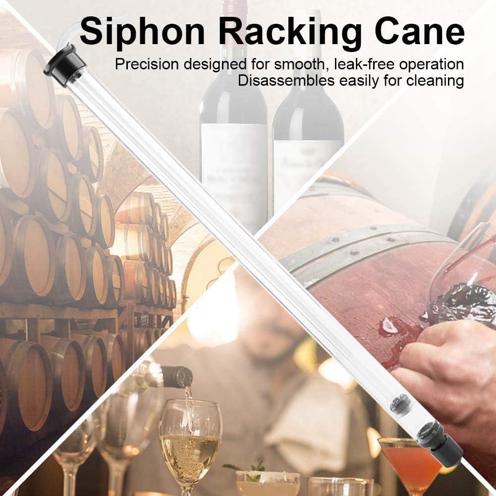 Auto Siphon Racking Cane para Cerveza Cubo de vino Botella de Carboy con tubos de pl/ástico para cerveza casera Elaboraci/ón de vino