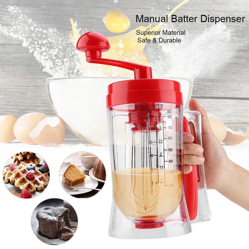 Hand-held Manual Pancake Cupcake Batter Mixer Dispenser Blender Machine Baking Tool for Making Cakes Waffles Betters