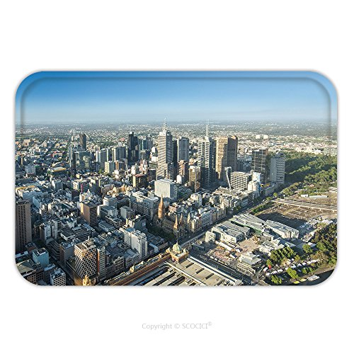 Flannel Microfiber Non-slip Rubber Backing Soft Absorbent Doormat Mat Rug Carpet Melbourne City Central Area From Top View 367533395 for - Glasses Central Melbourne