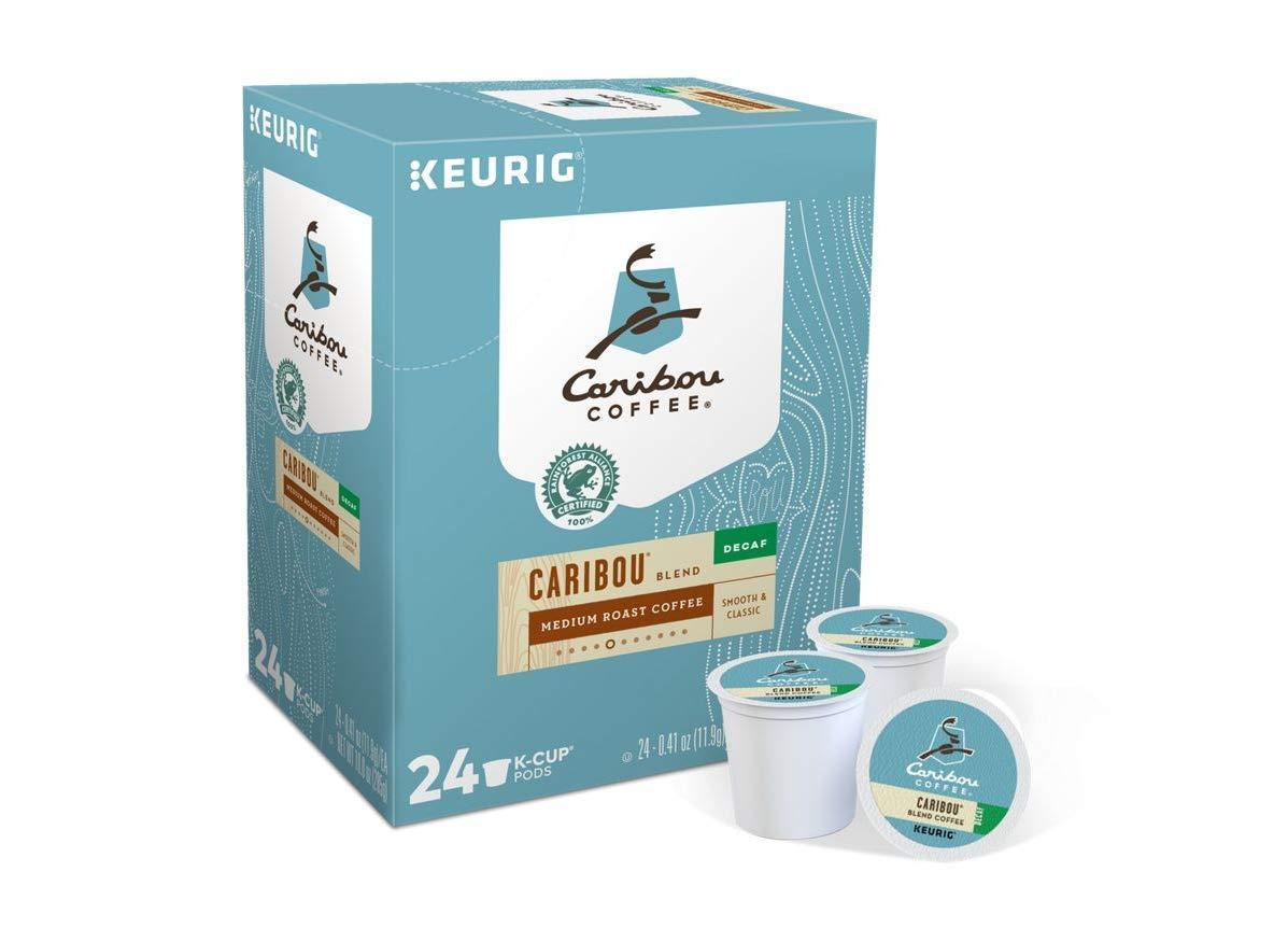 Caribou Coffee, Caribou Blend Decaf, K-Cup Portion Pack for Keurig K-Cup Brewers (Pack of 48)