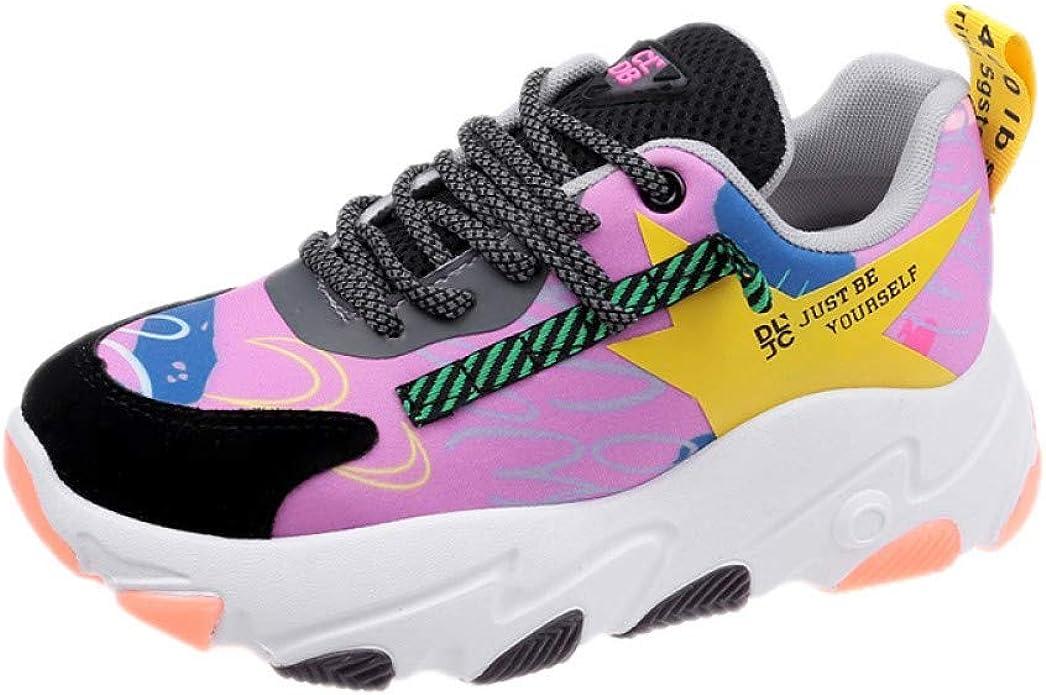 ASTAOT Azul Mujer Zapatos para Correr Mujer Nueva Altura Aumento Zapatillas Deportivas Transpirable Zapatillas Deportivas Cómodas Parte Inferior Gruesa Mujer-Blue,5: Amazon.es: Zapatos y complementos