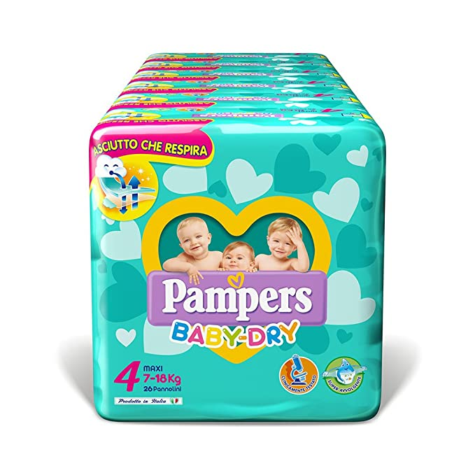 23 opinioni per Pampers Baby Dry Maxi, 156 Pannolini, Taglia 4 (7-18 kg)