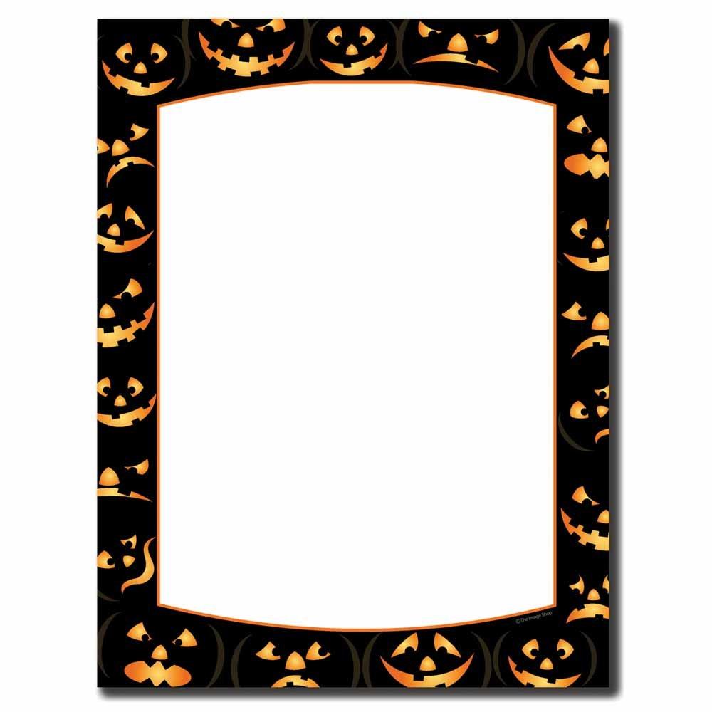 Image Shop Pumpkin Faces Halloween Letterhead Laser & Inkjet Printer Paper (100pk),Orange, Black by Image Shop (Image #1)