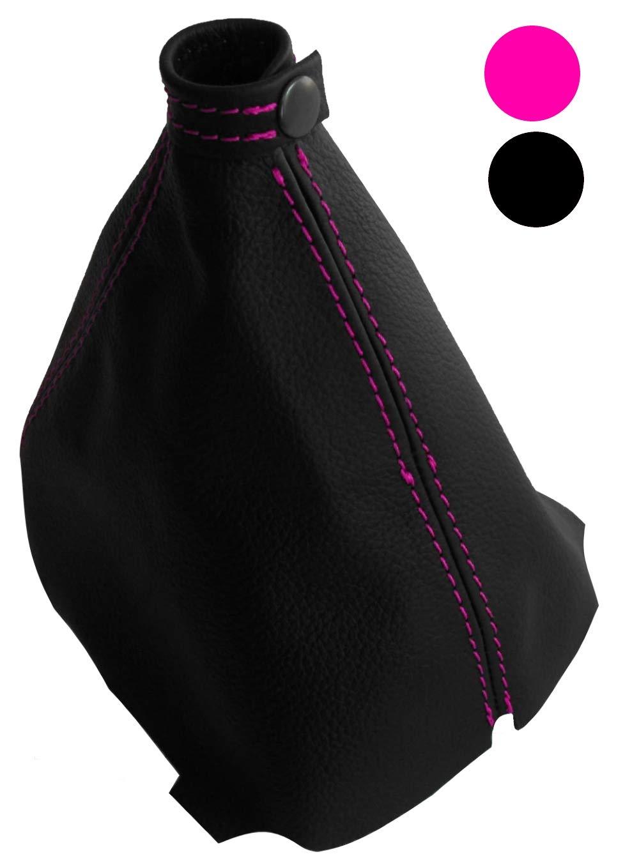 Funda para palanca de cambios 100/% Piel genuina negro con costuras de colores variables AERZETIX Azul