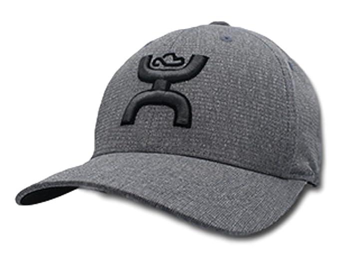 Amazon.com  HOOey Brand Jet Grey S M Flexfit Hat - 1831GY-01  Clothing ba95b81e9e7d