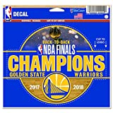 WinCraft Golden State Warriors Official NBA 4.5'' x 6'' 2018 National Champions Automotive Car Decal 4.5x6 by 262288