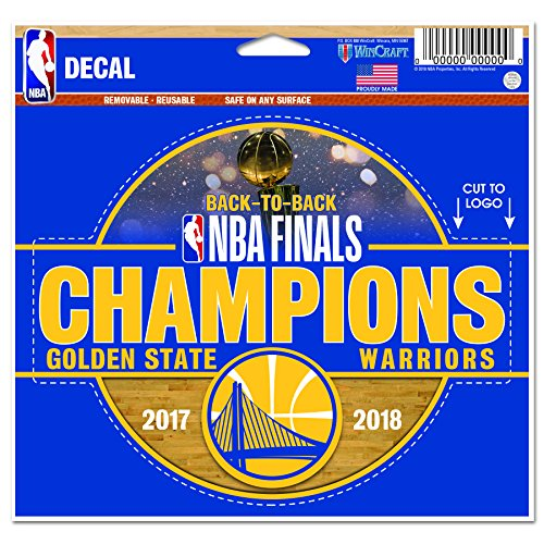 WinCraft Golden State Warriors Official NBA 4.5'' x 6'' 2018 National Champions Automotive Car Decal 4.5x6 by 262288 by WinCraft