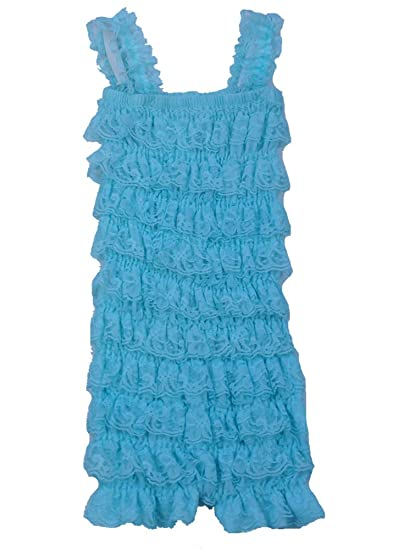 85d149eb5fb Amazon.com  The Hair Bow Company Little Girl s Baby   Toddler Lace Tiered Ruffle  Petti Romper  Clothing