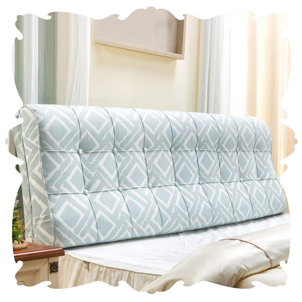 LIXIONG Bed Backrest Cushion Double Headboard Upholstered Headrest Soft Cover Reading Pillow Lumbar Pads ,Removable Washable (Color : B, Size : 180x58cm)