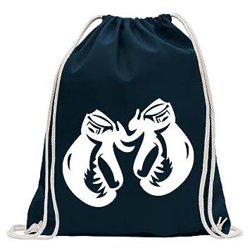 Kiwistar Guantes de Boxeo Fun Mochila Deporte Bolsa de Remise en Forma Gymbag Shopping Algodón con Cordón, Tela, Bleu Foncé, 37 x 46cm: Amazon.es: Hogar