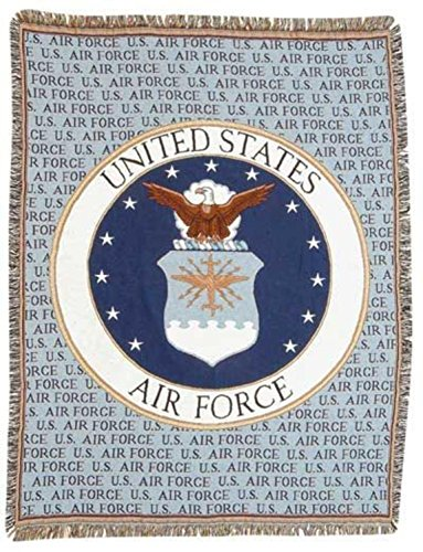 Simply Home United States Air Force Military Afghan Throw Tapestry - 50