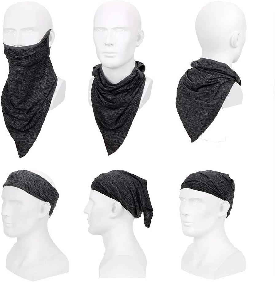 iTimo Half Face Motorcycle Cycling Face Mask Triangle Breathable Dustproof Headband Anti-UV Viscose Fiber Sport Scarf Black