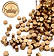 UNIQOOO Arts & Crafts 180 Pcs Metallic Antique Gold Box Sealing Wax Beads Nuggets for Wax Seal Stamp, Great for Embellishment of Cards Envelopes, Wedding Invitations, Wine Packages, Gift Wrapping Anti
