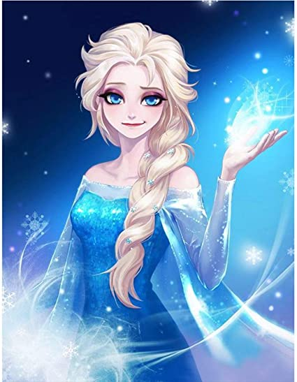 Ice Queen Frozen 5D diamond DIY painting cross stitch craft kit embroidery painting family wall decoration