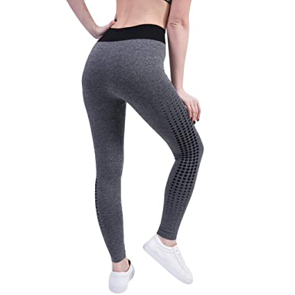 3ff1c840d4e9c Amazon.com: BOLUOYI Seamless Leggings Stylish Mesh Yoga Pants High ...