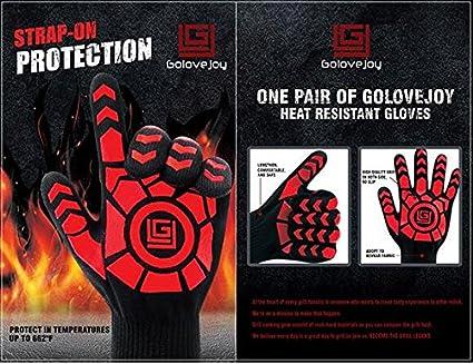 500 °C extreme resistente al calor guantes de horno – EN407 Certificado barbacoa guantes para