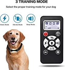 RH [2018 Upgrade Version] Upgrade 800Yards Rechargeable Dog Training Collar with Shock/Vibration/Tone,Usefull and Safety Remote Control Collar for dogs