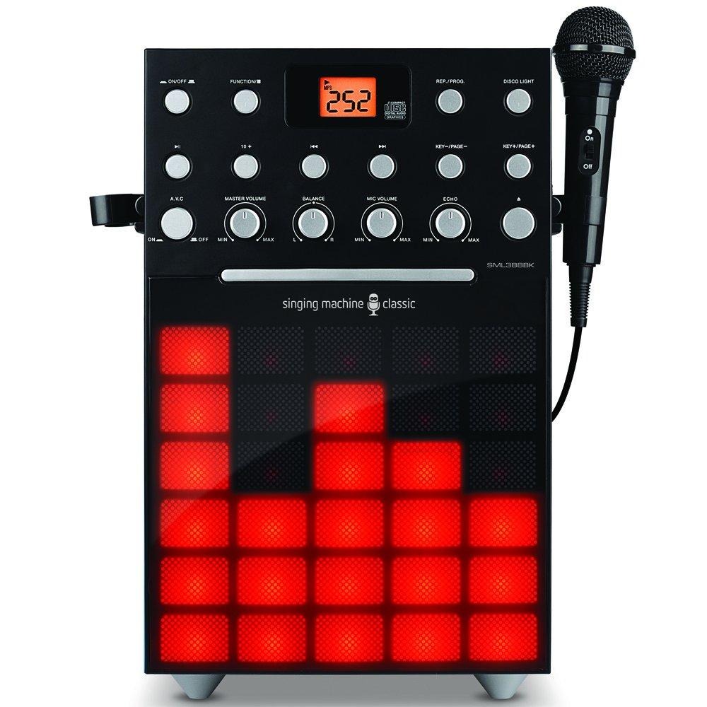 Singing Machine SML388W Karaoke Machine with Music Synchronizing Light Show (Black) SML388BK