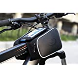 Lohai cycling | ROSWHEEL Cycling Frame Bag, head tube bag, Top tube bike phone bag holder for Iphone 6 5s/5c/5 iphone 4/4s, Samsung Galaxy S5/S4/S3 and other mobile phone up to 5.7 inches