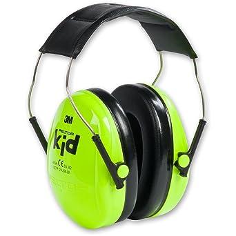 3M Peltor Kid Kapselgehörschützer neongrün – Kinder Gehörschutz mit verstellbarem Kopfbügel für Lärm bis 98dB – SNR 27 Hörsch