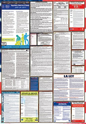 California / Federal Combination Labor Law Posters Spanish Edition (New)
