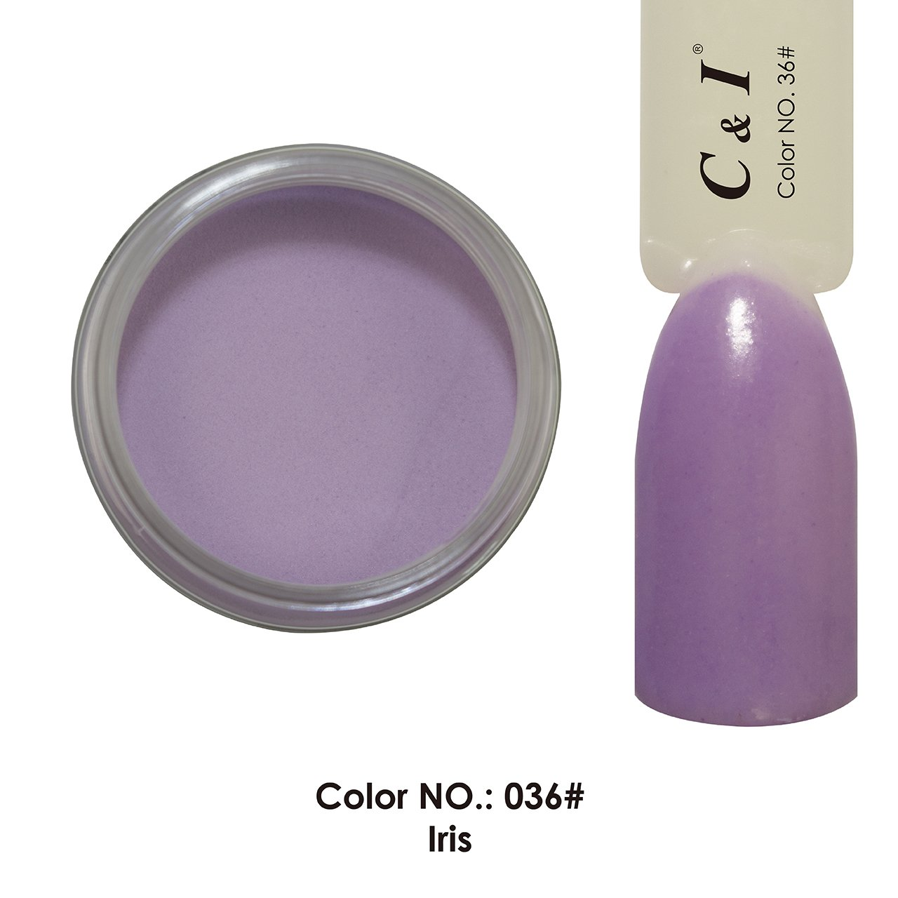 C & I Dipping Powder Color No.036 Iris Purple Color System Fulei Trading