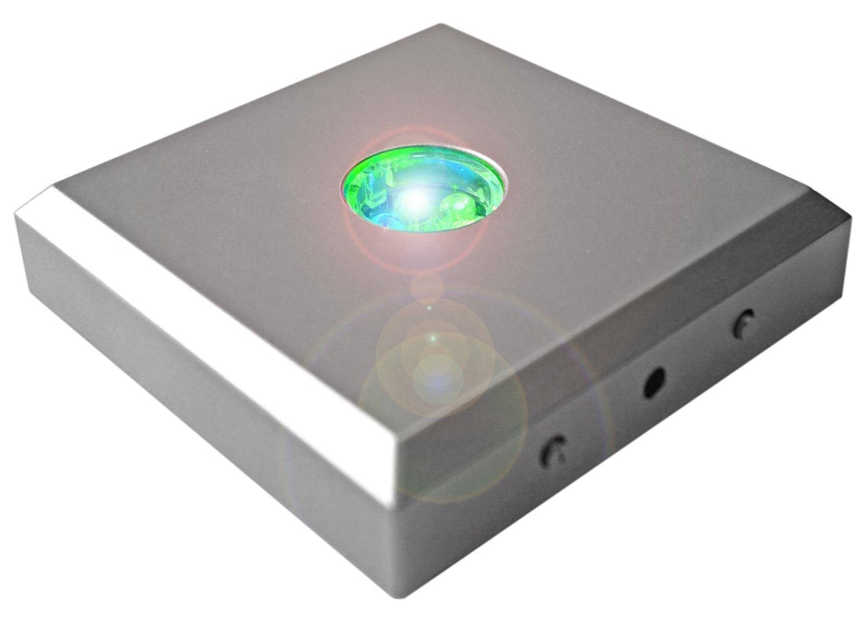 5 LEDs Kaltner Pr/äsente LED Untersetzer Farbverlauf Farbwechsler Leuchtsockel mit Color-Stop Funktion f/ür Stimmungslichter Silber
