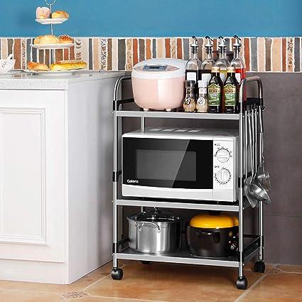 Amazon.com: Microwave Oven Shelf, Kitchen Bakers Rack 3 ...