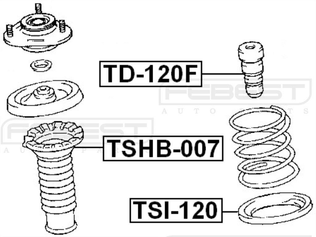 FEBEST TSHB-007 Front Shock Absorber Boot
