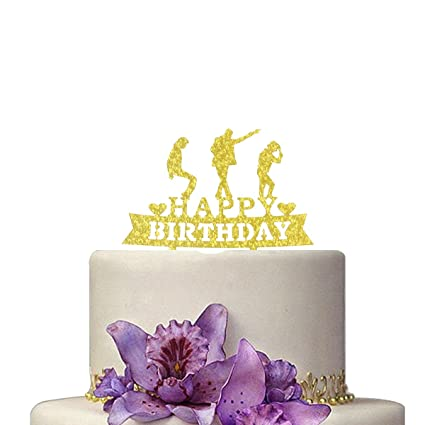 Image Unavailable Not Available For Color TanGeekor Happy Birthday Cake Topper Michael Jackson