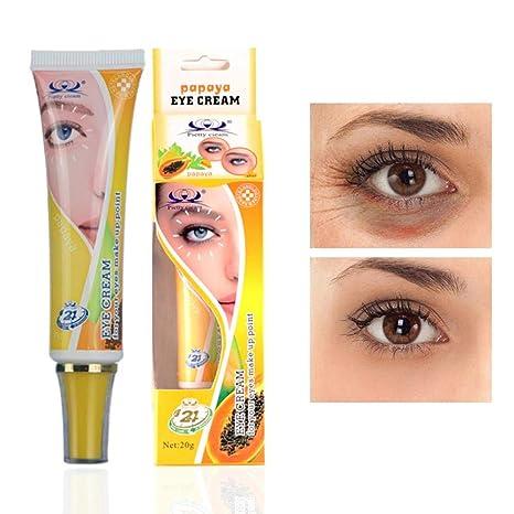 Pretty Cowry Crema hidratante para ojos y frutas en pieles secas y sensibles y líneas finas