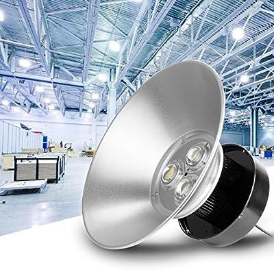 Iglobalbuy 120W LED High Bay Light 11000 lumens 6000K Daylight White Workshop Stadium Bus Station