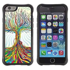ZAKO Cases / Apple Iphone 6 / Color Tree / Robusto Prueba de choques Caso Billetera cubierta Shell Armor Funda Case Cover Slim Armor
