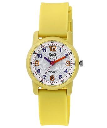 6de34603c961 Q Q Reloj niños niñas señora sumergible con numeros arabes en varios  colores fabricado por Citizen