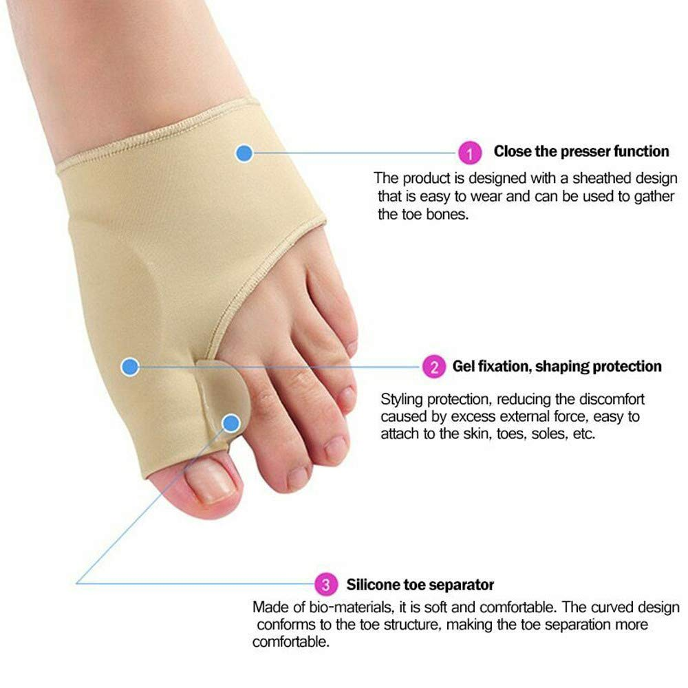 Clothful  2 Pair Healthy Leg Recommended Thumb Valgus Toe Separator Relief Corrector Pad by Clothful (Image #4)