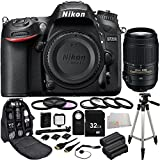 Nikon D7200 DX-format DSLR w/ Nikon 55-300mm f/4.5-5.6G ED VR AF-S DX Nikkor Zoom Lens (Black) - International Version (No Warranty) 32GB Bundle 22PC Accessory Kit. Includes 32GB Memory Card + 2 Replacement EN-EL15 Batteries + 3PC Filter Kit (UV-CPL-FLD) + MORE