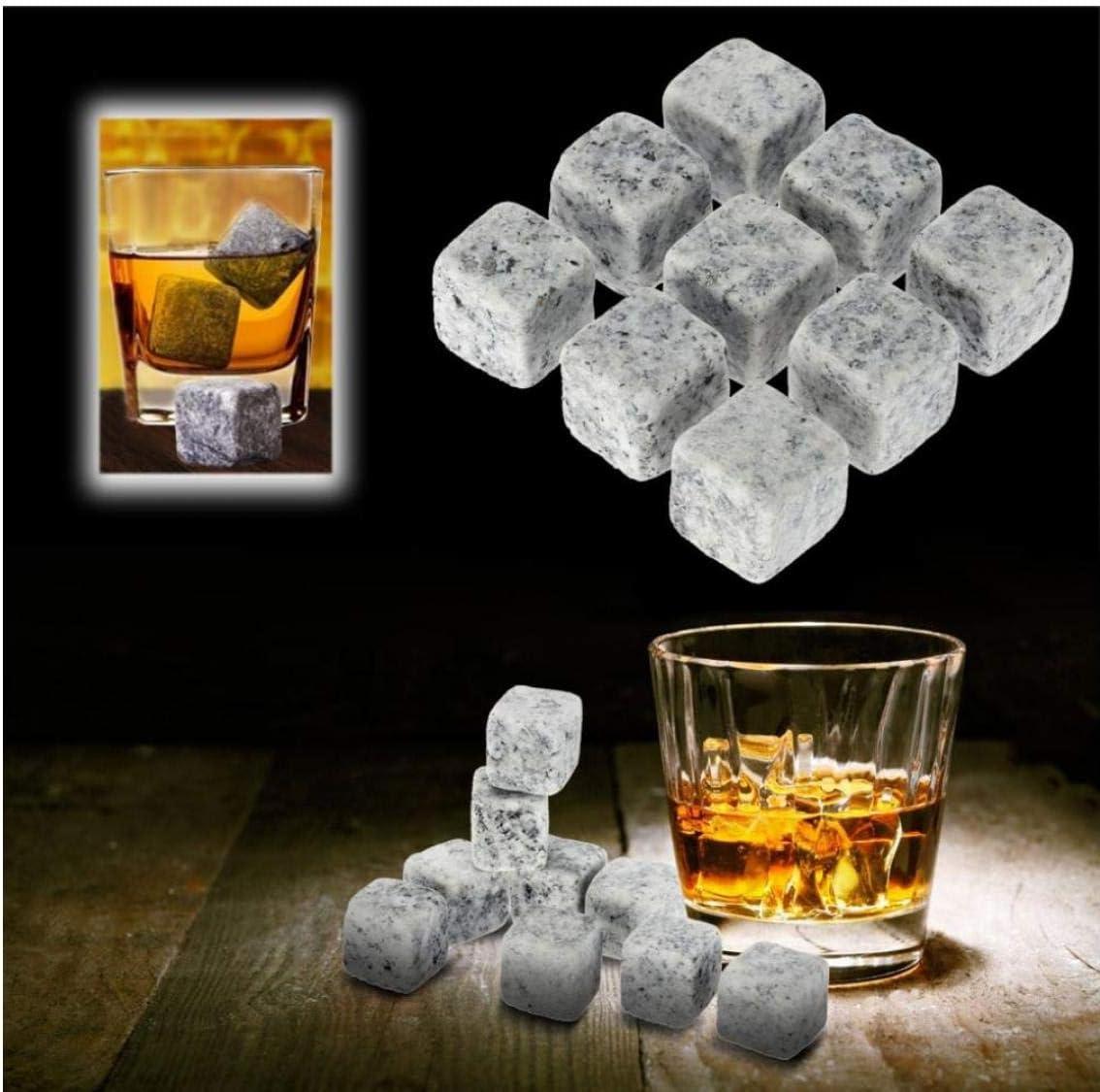 ray/é Blanc Zonster 9pcs Whisky mis en Champagne Ice Pierres de Refroidissement Whisky Pierres Boissons Cave /à vin Refroidisseur de bi/ère avec /étui