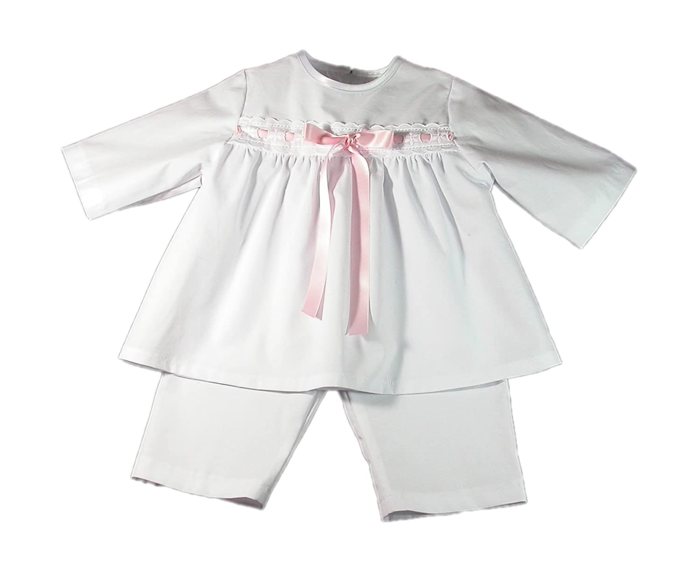 Bateo Design Taufanzug Kai mit rosa Schleife