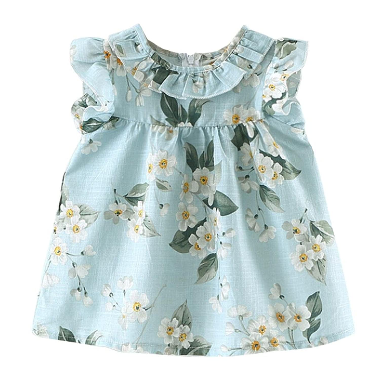 39c40f6ba Outlet K-youth Verano Vestidos para niña Barata Vestidos bebe niñas  Ceremonia Sin mangas Imprimir