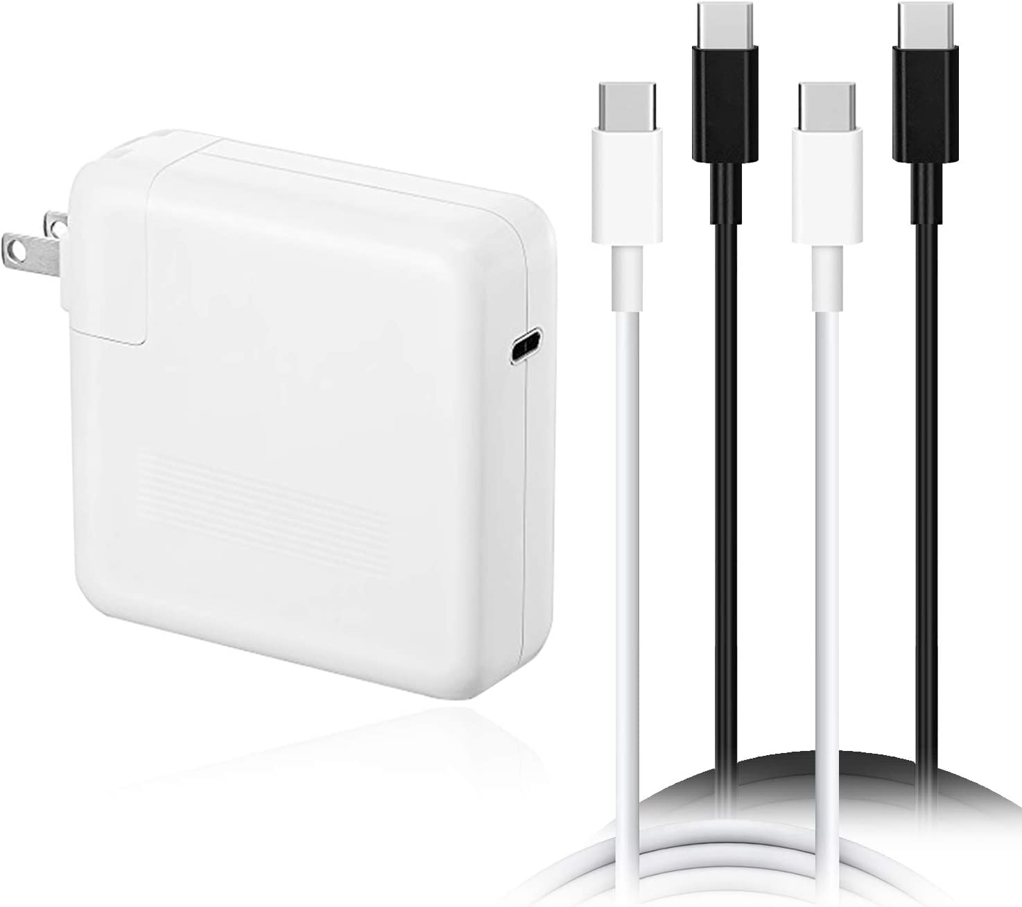 BatPower 87W USB-C Power Adapter Charger for 2016 2017 2018 2019 MacBook Pro 15-inch Touch Bar Two Four Thunderbolt 3 Ports Apple A1719 A1708 87W Power Supply PD USB C Laptop Type C Connector
