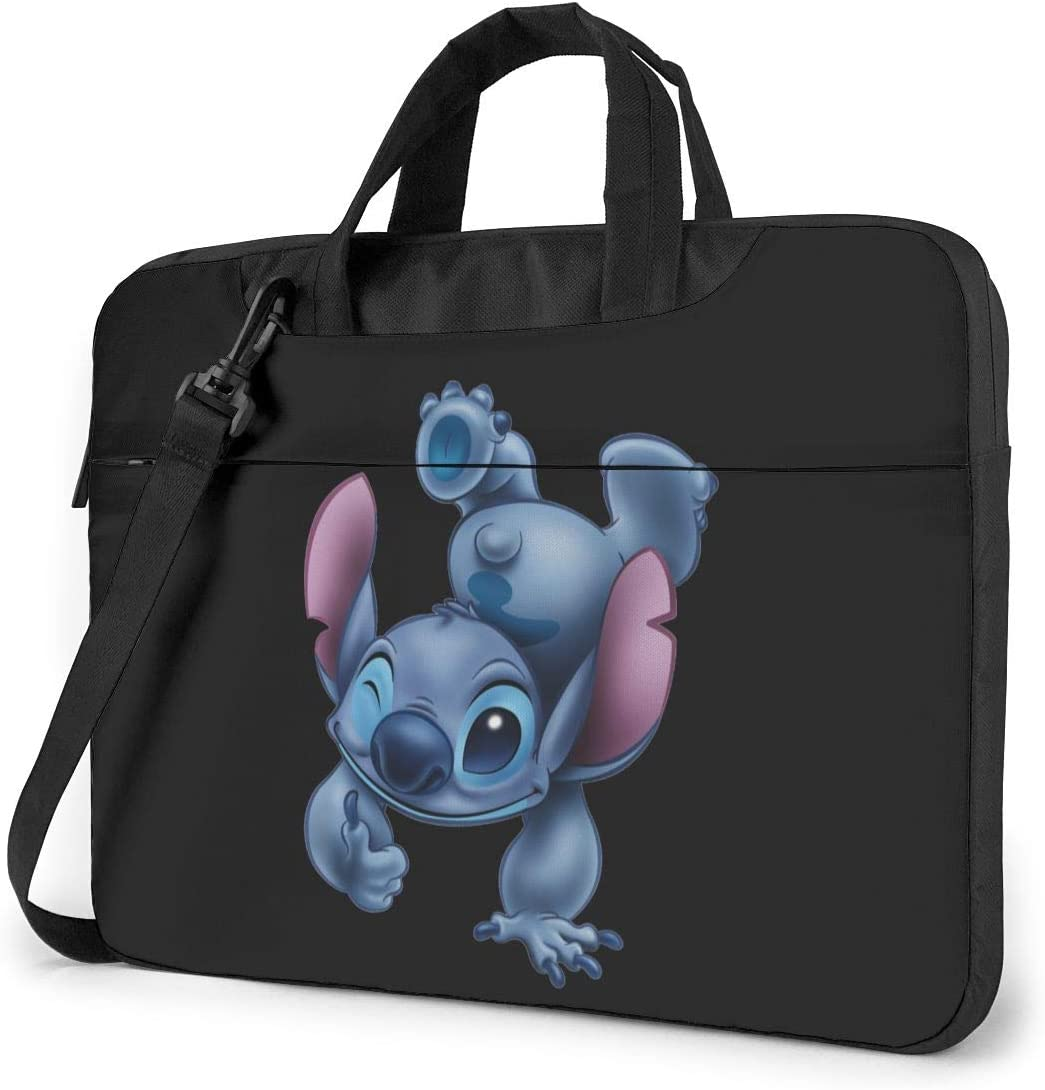 "NDSXTLCA Lilo Stitch 17.3-Inch Laptop Shoulder Sleeve Bag Case with Handle for 17 17.3"" Acer Dell Hp Classic Colorful 15.6 inch"